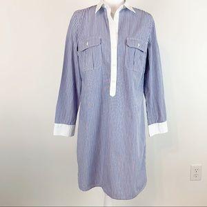 Gap women size S color block stripe shirtdress